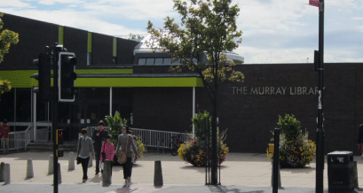 The Murray Library Chester road entrance