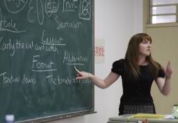 Lecturer teaching a class